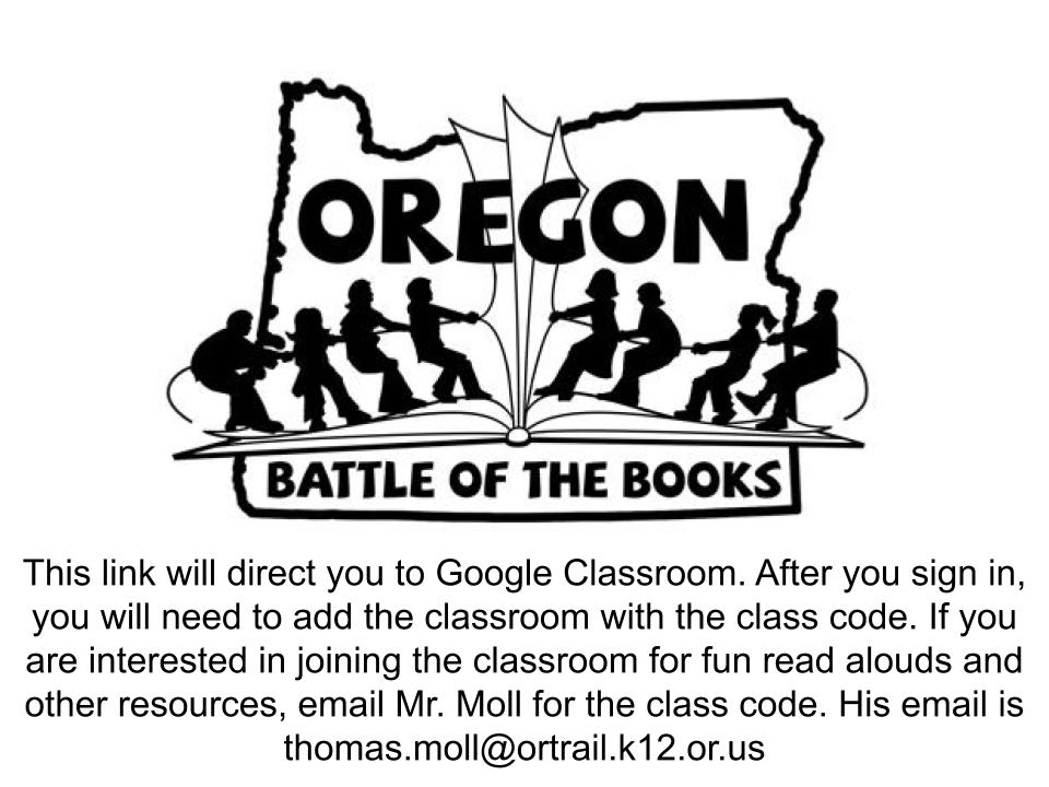 Oregon Battle of the Books at Naas